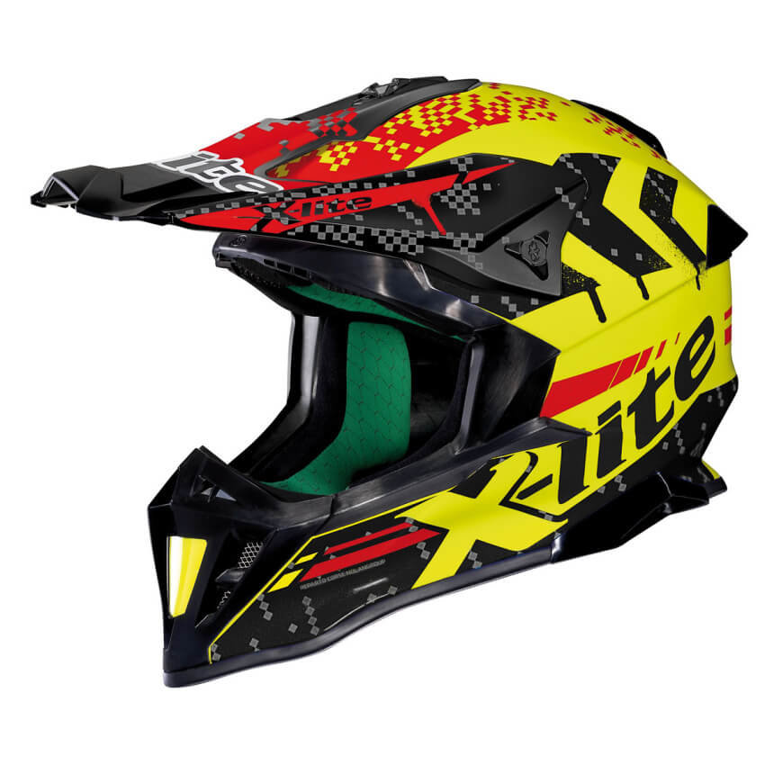 Černo-žlutá unisex helma na motorku X-502 Nac-Nac LED, X-lite