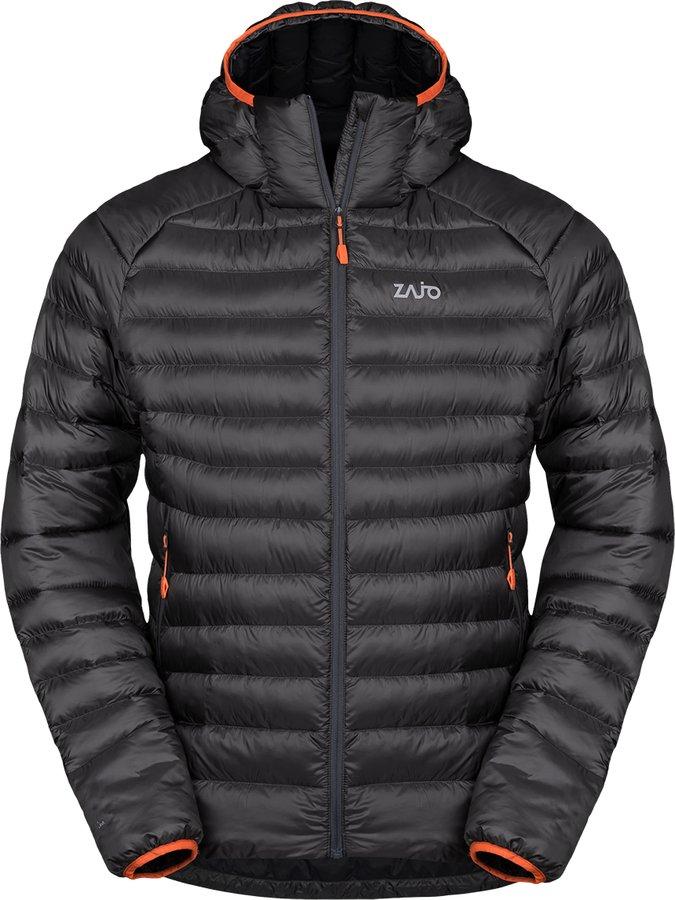 Černá zimní pánská bunda s kapucí Zajo