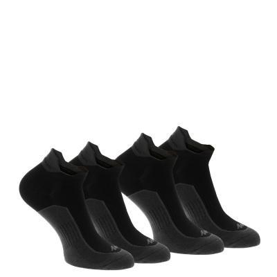 Černé kotníkové unisex ponožky Quechua