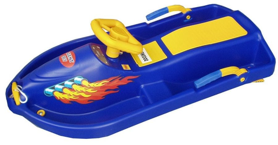 Modré dětské boby s volantem Acra