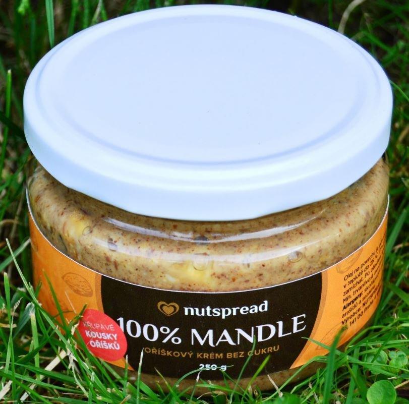 Máslo - 100% mandlové máslo Nutspread Crunchy 250 g