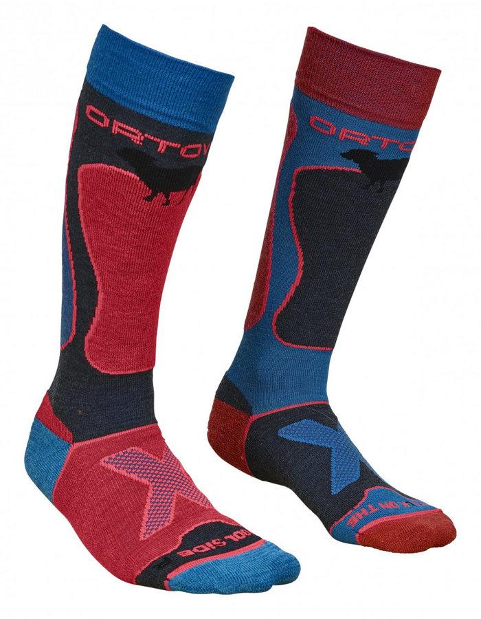 Modré dámské ponožky W's Ski Rock'n'Wool, Ortovox - velikost 42-44 EU