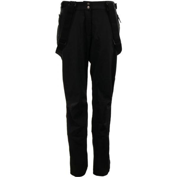 Černé softshellové zimní dámské kalhoty Alpine Pro