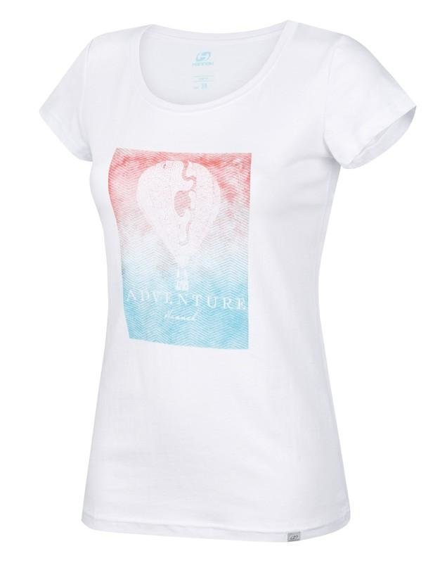 Bílé dámské tričko s krátkým rukávem Hannah