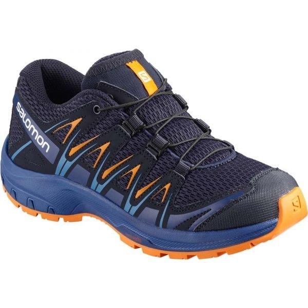 Modré dětské běžecké boty Salomon