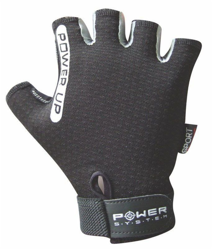 Černé fitness rukavice Power System