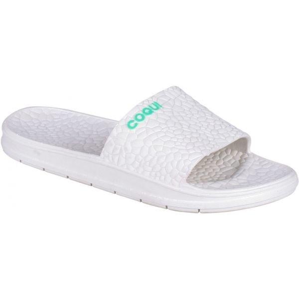 Bílé dámské pantofle Coqui