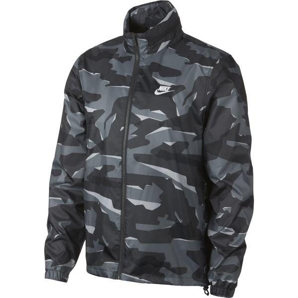 Černo-šedá pánská bunda Nike