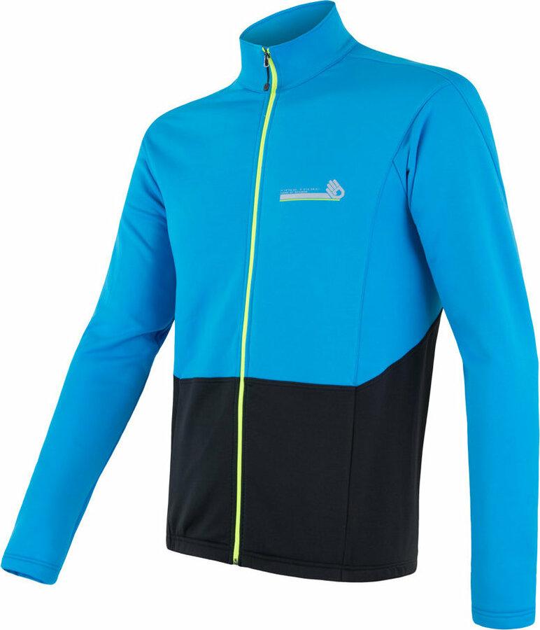 Černo-modrá pánská cyklistická bunda Sensor - velikost S