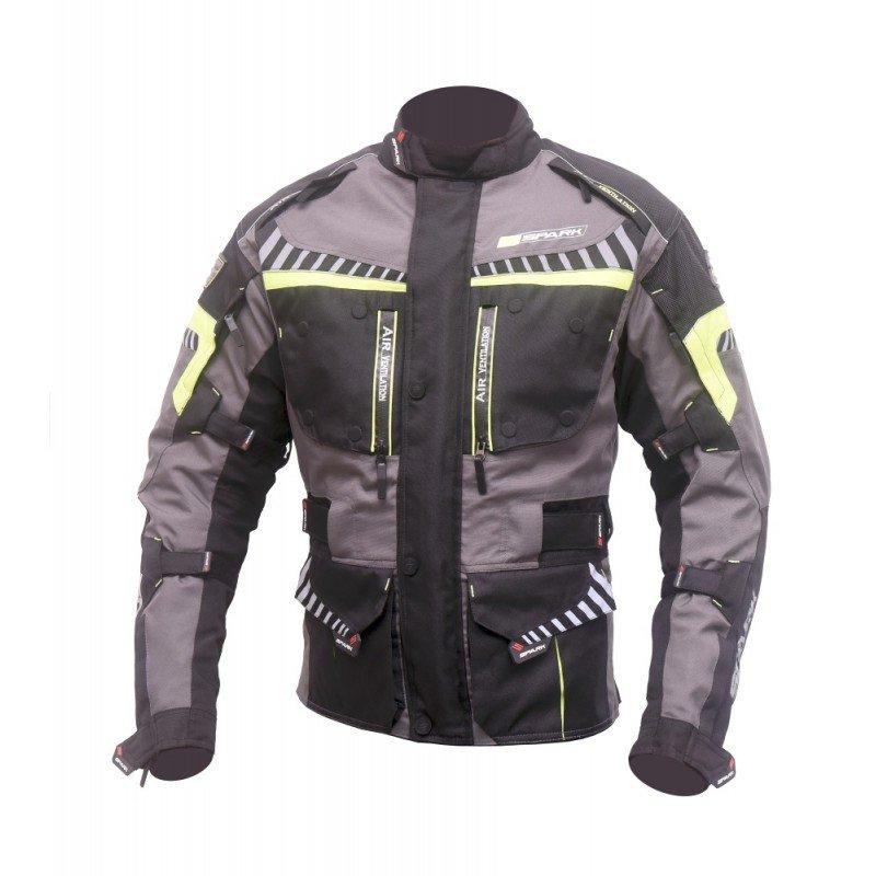 Černá pánská motorkářská bunda Roadrunner, Spark - velikost XL