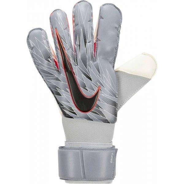 Šedé pánské brankářské fotbalové rukavice Nike
