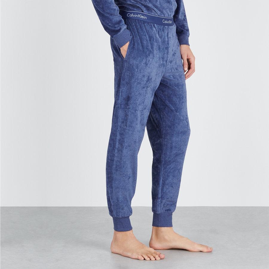 Modré pánské tepláky Calvin Klein