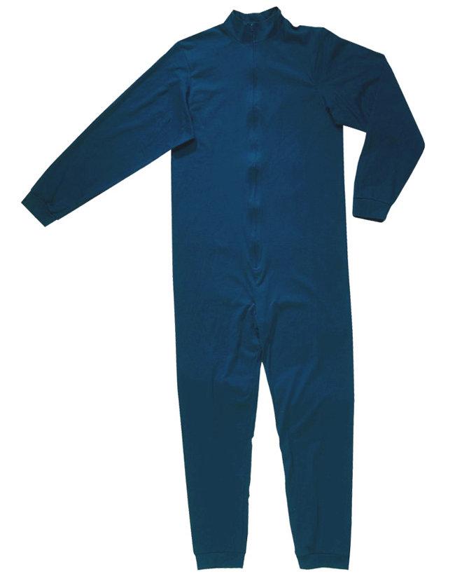 Modré dětské jednodílné chlapecké hokejové ribano Opus - velikost 140