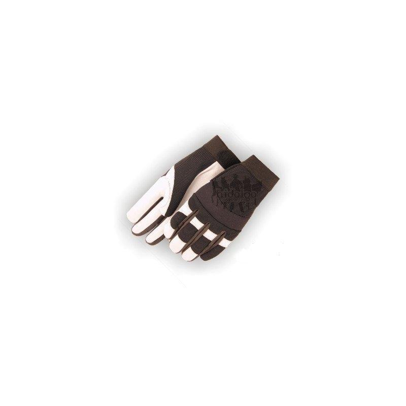 Bílé westernové jezdecké rukavice Eagle