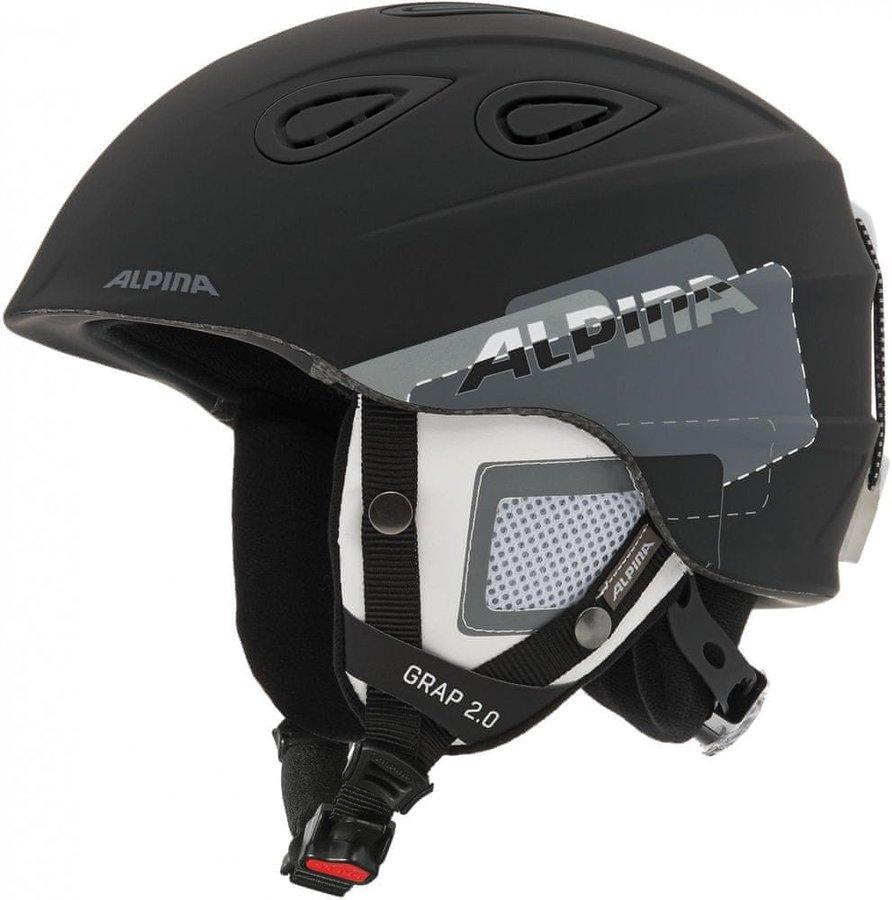 Černá helma na snowboard Alpina - velikost 54-57 cm