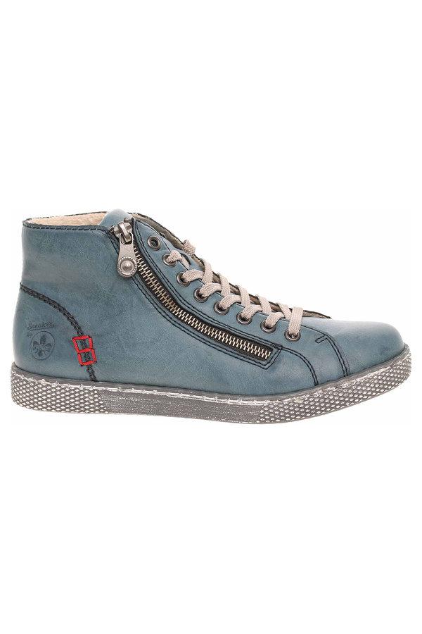 Modré dámské zimní boty Rieker