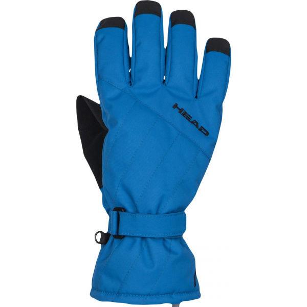 Modré dětské lyžařské rukavice Head - velikost 11-13 let