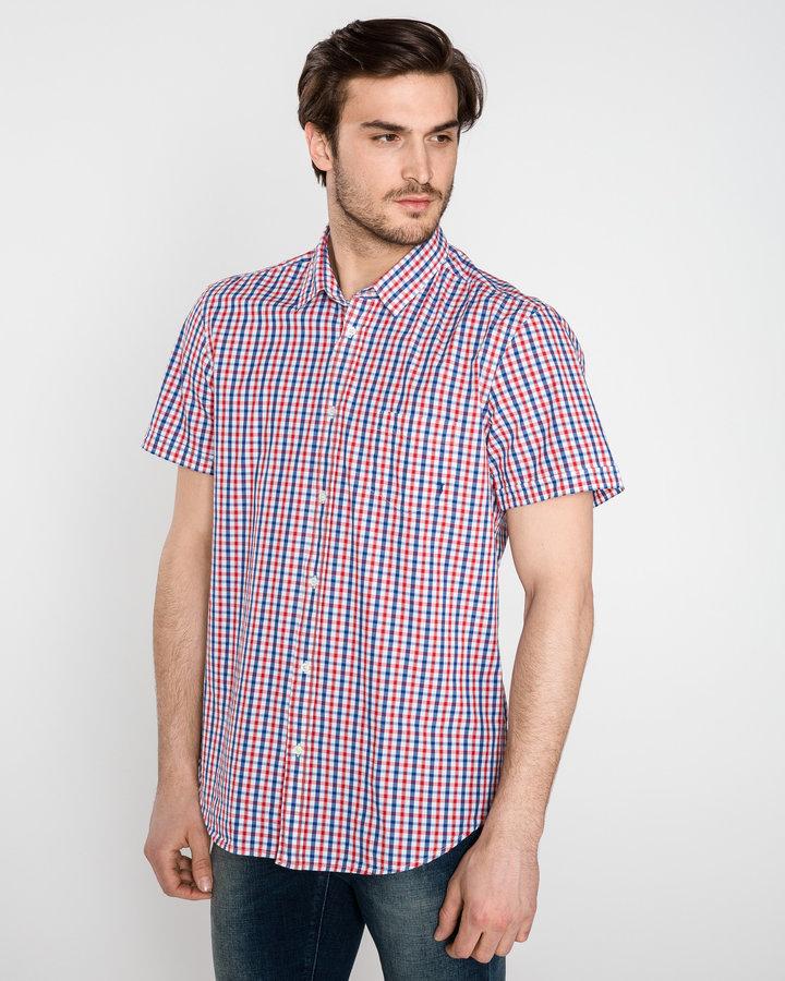 Různobarevná pánská košile s krátkým rukávem Trussardi Jeans