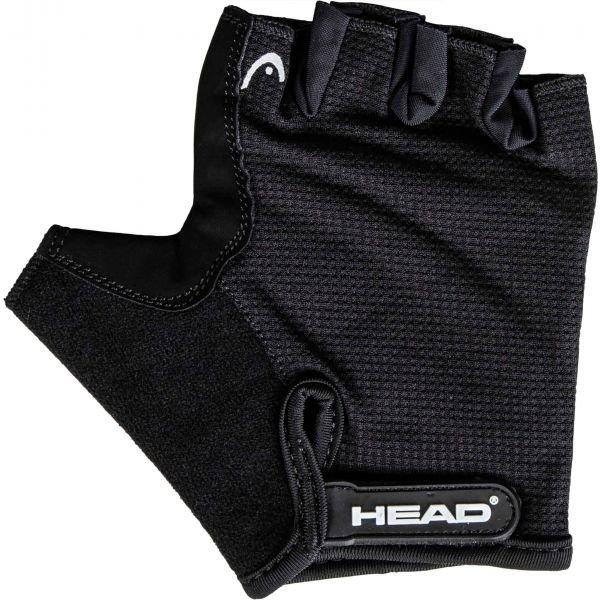Černé pánské cyklistické rukavice Head