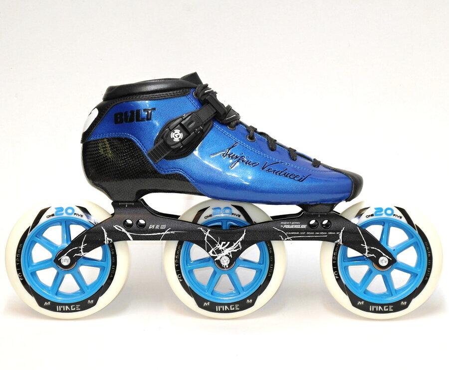 Modré speedové kolečkové brusle Luigino - velikost 42 EU