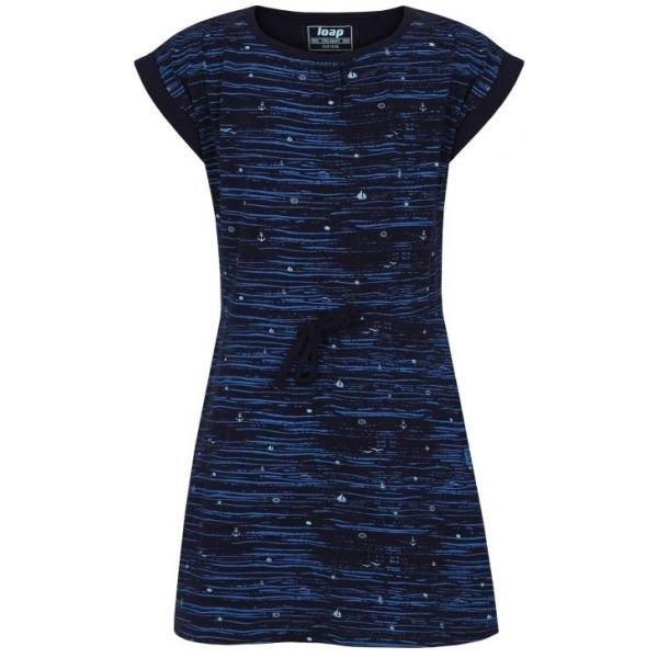 Modré dívčí šaty Loap - velikost 112