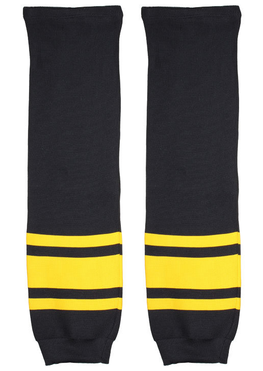 Hokejové štulpny - Merco Loko štulpny černá-žlutá 1 pár