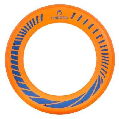 Oranžový polyuretanový létající kruh Olaian - průměr 26,5 cm