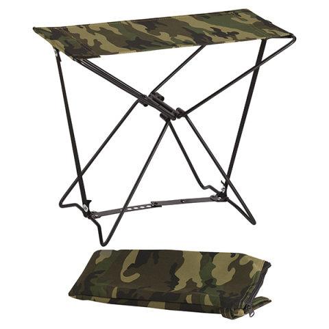 Kempingová židle - Stolička skládací ARMY WOODLAND