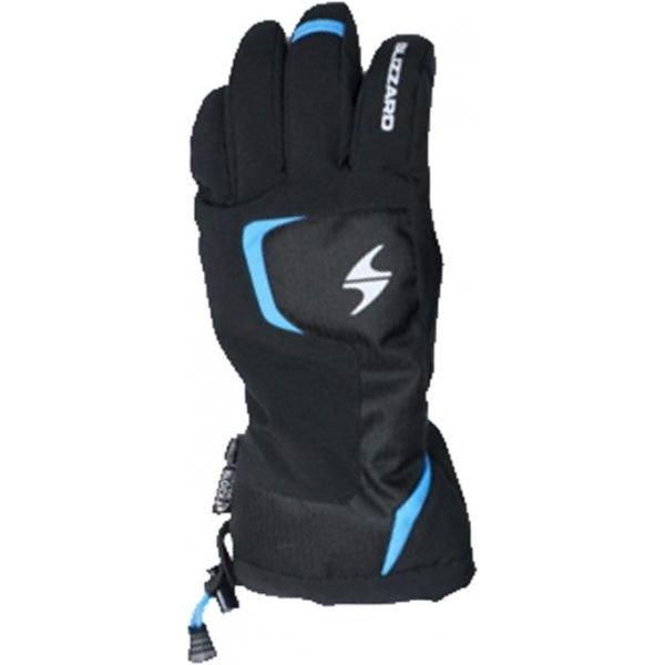 Černo-modré dětské zimní rukavice Blizzard