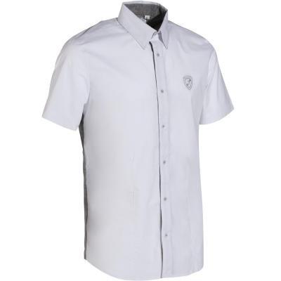 Bílá pánská jezdecká košile s krátkým rukávem Okkso