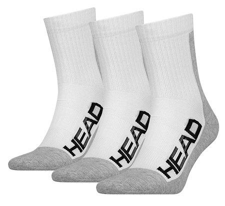 Bílo-šedé vysoké pánské tenisové ponožky  Head - velikost 35-38 EU