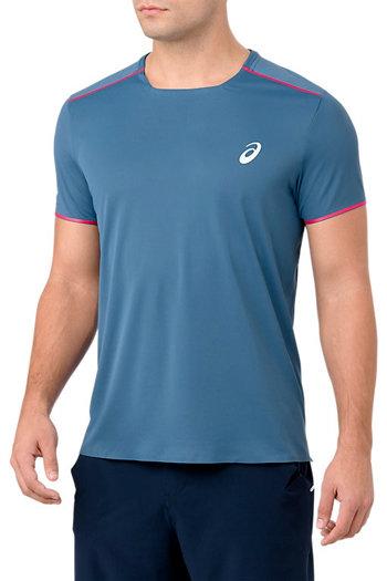 Modré pánské tričko s krátkým rukávem Asics