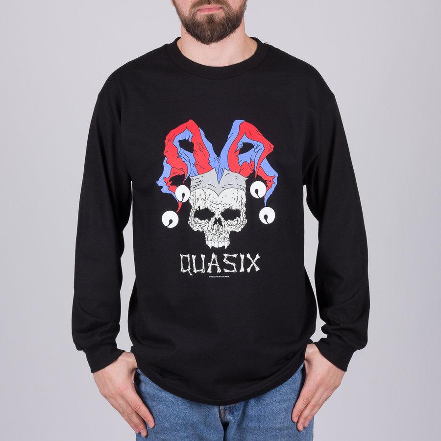 Černé pánské tričko s dlouhým rukávem Quasi - velikost M