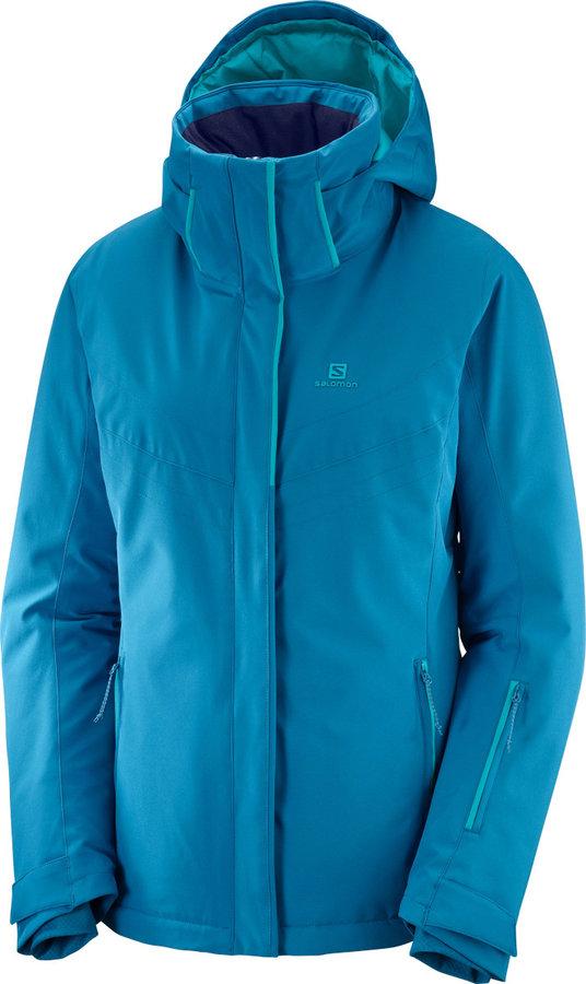 Modrá dámská lyžařská bunda Salomon - velikost L