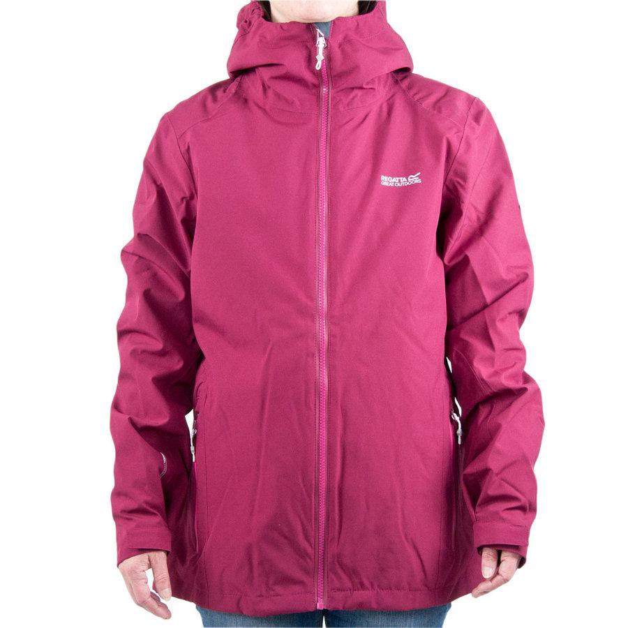 Fialová zimní dámská bunda s kapucí Regatta