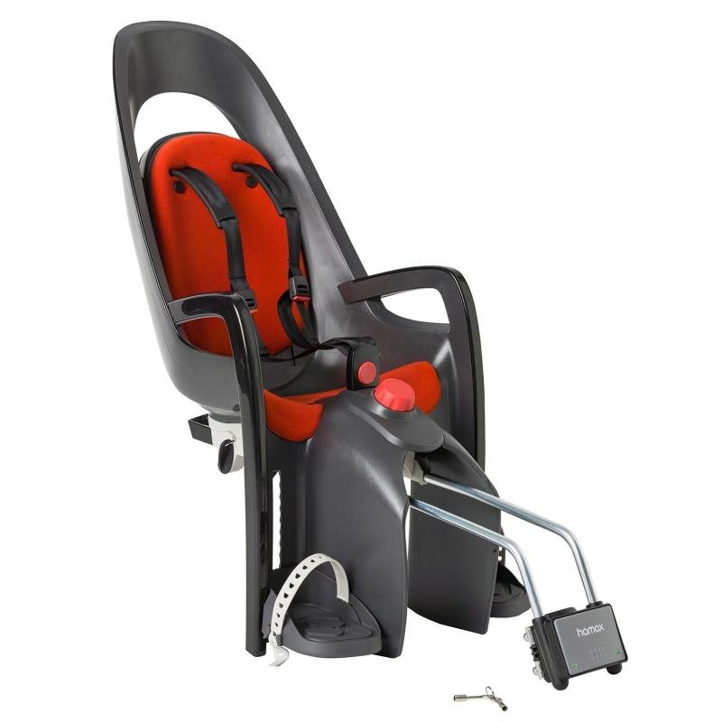 Červeno-šedá dětská sedačka na kolo Hamax - nosnost 22 kg
