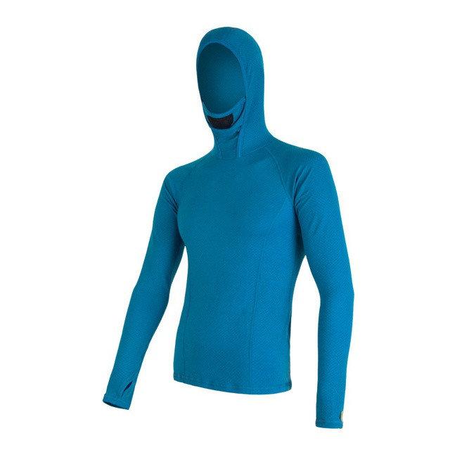 Modré pánské tričko s dlouhým rukávem Sensor