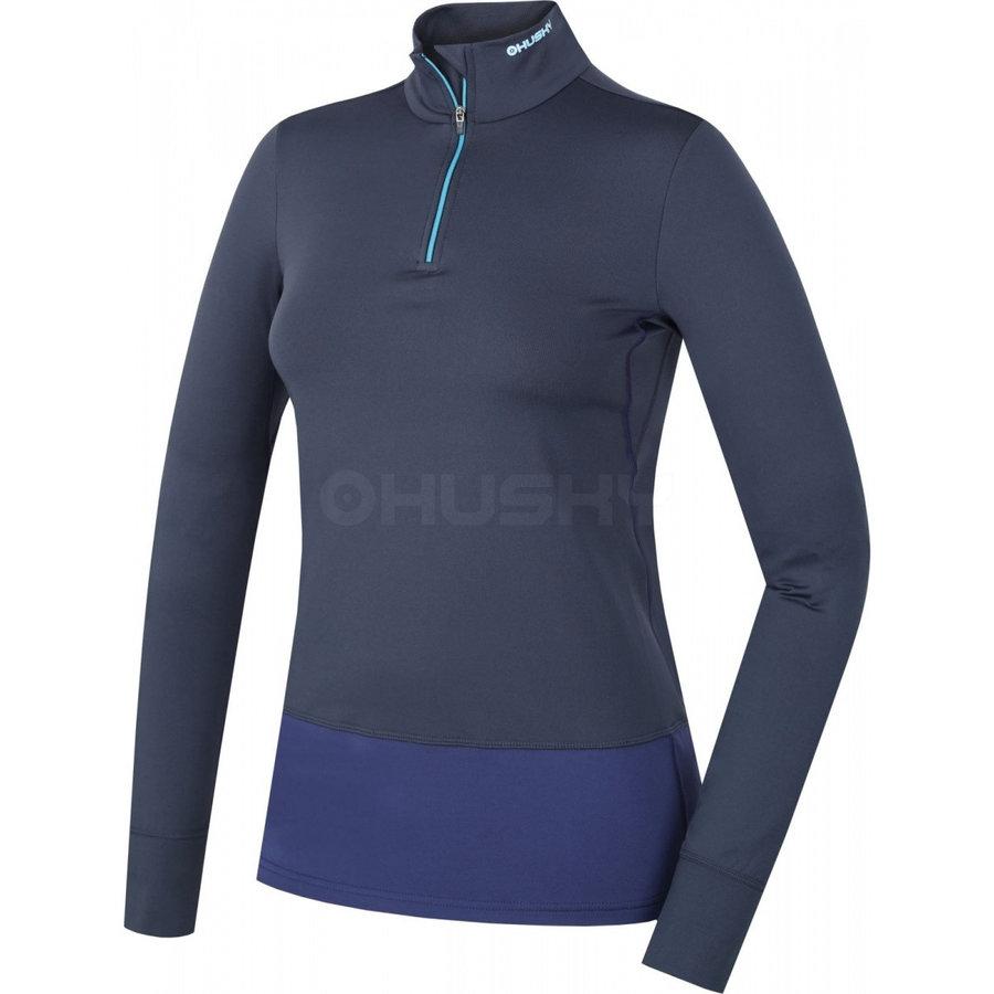Modré dámské funkční tričko s dlouhým rukávem Husky