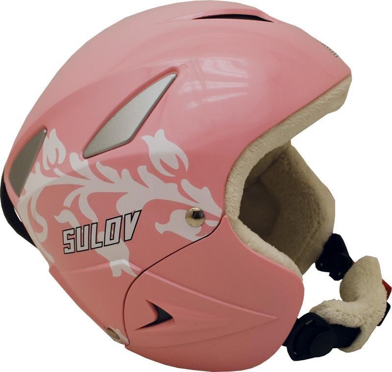 Růžová dívčí lyžařská helma Sulov - velikost 55-56 cm