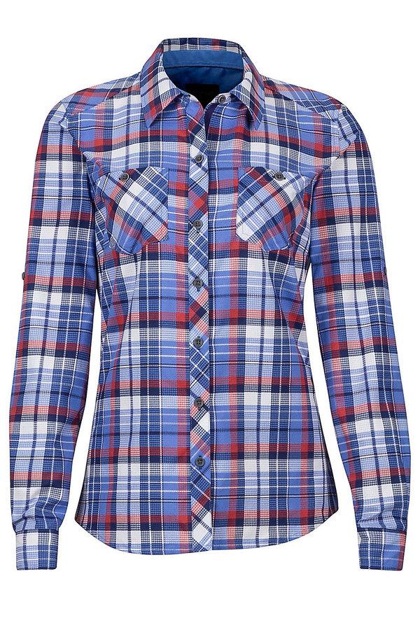 Modrá dámská košile s dlouhým rukávem Marmot - velikost S