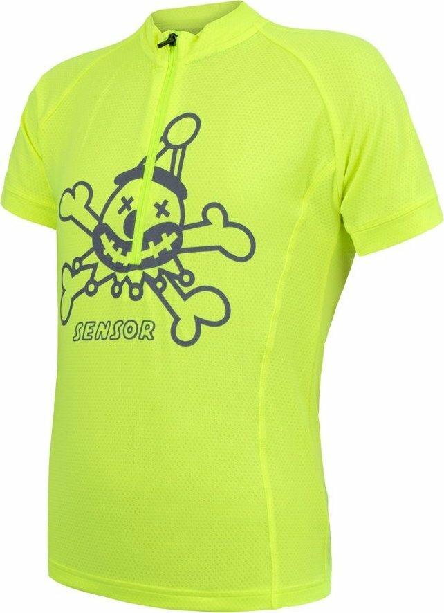 Žlutý dětský cyklistický dres Sensor - velikost 130
