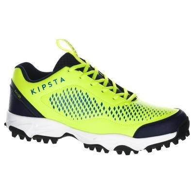 Žluté pánské boty na pozemní hokej Kipsta