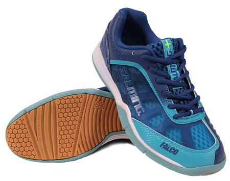 Modré sálové boty - obuv Falco, Salming