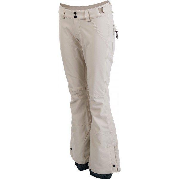 Béžové dámské lyžařské kalhoty O'Neill - velikost XL