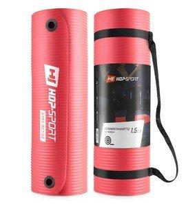 Červená podložka na cvičení Hop-Sport - tloušťka 1,5 cm
