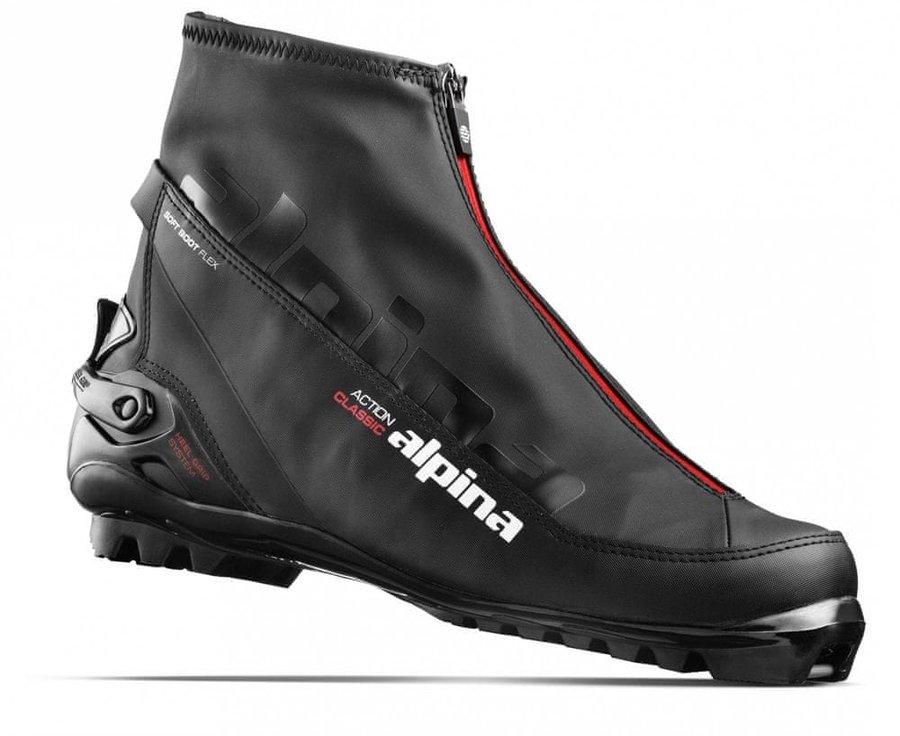 Černé boty na běžky Alpina - velikost 44 EU