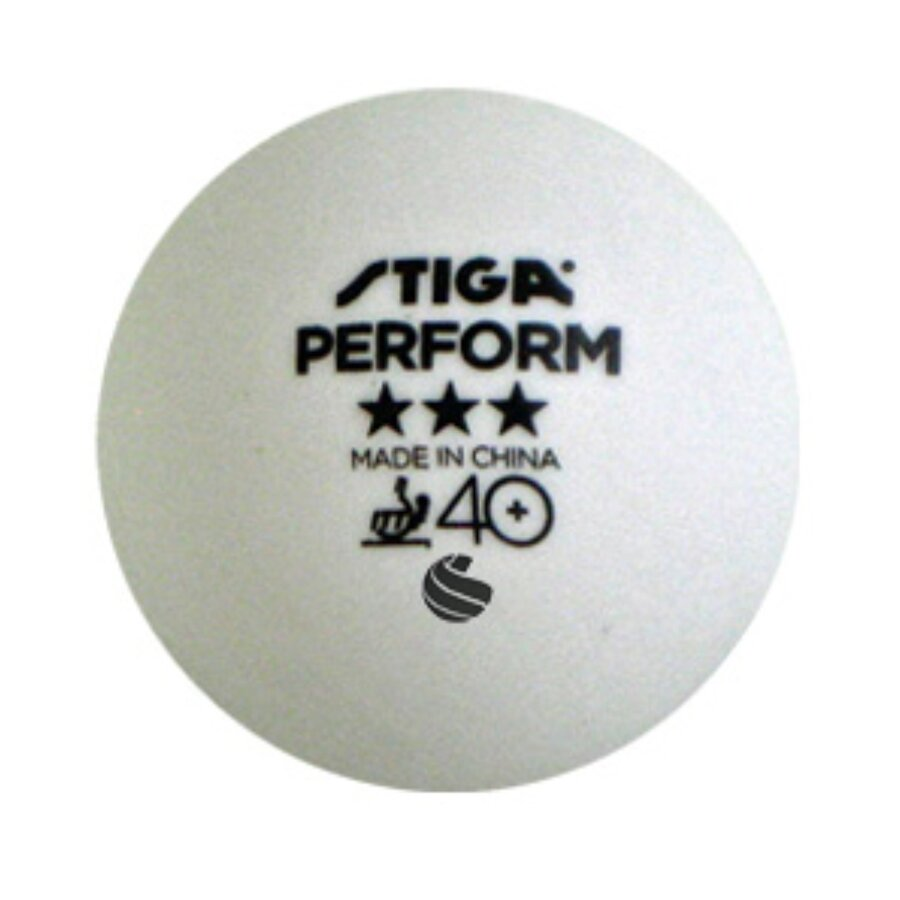 Bílý míček na stolní tenis Stiga - 3 ks