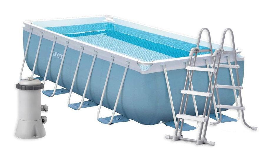 Bazénový set - INTEX PRISM FRAME RECTANGULAR POOL 400 x 200 x 100 cm 26776GN