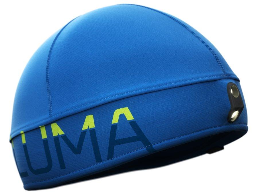 Modrá běžecká čepice Active Led Light, LUMA