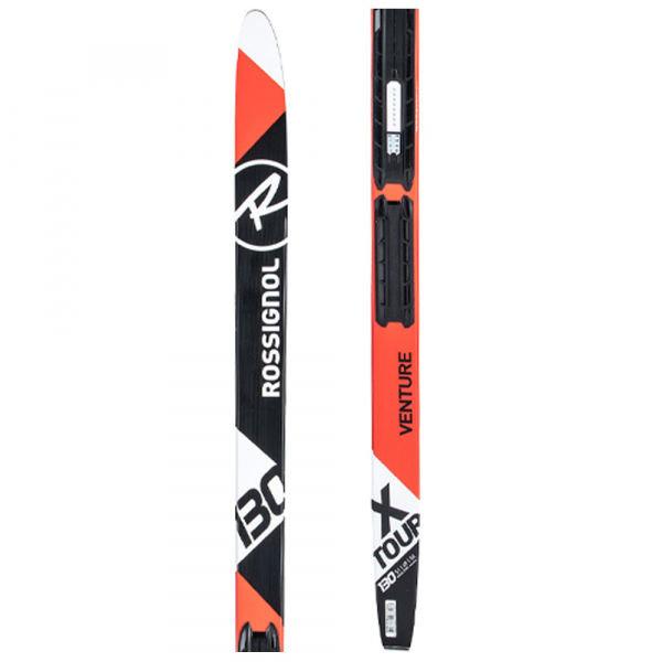 Černo-červené dětské běžky bez vázání Rossignol - délka 130 cm